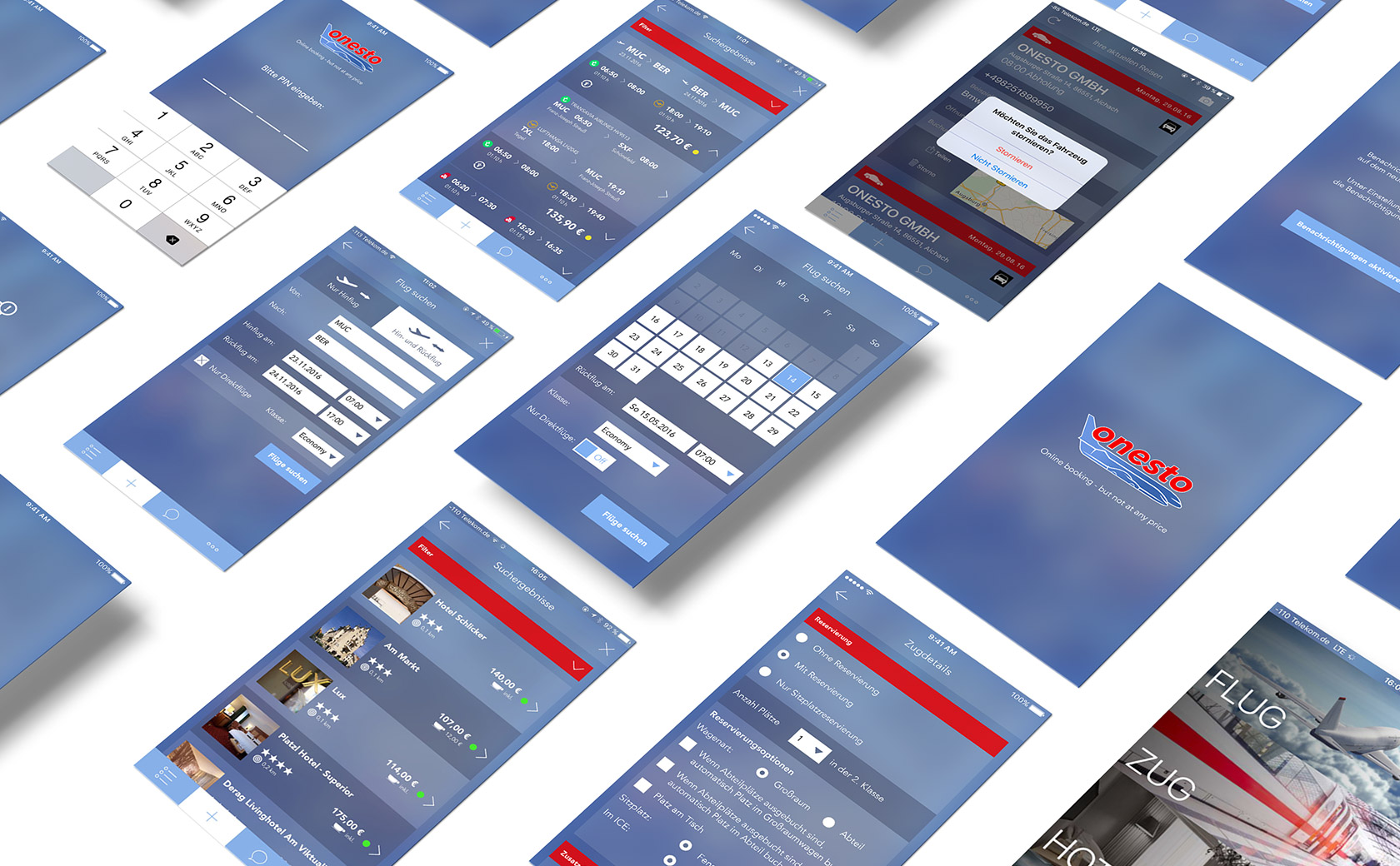 EAZEE App Agentur Muenchen onesto App Design Screendesign Beispiel
