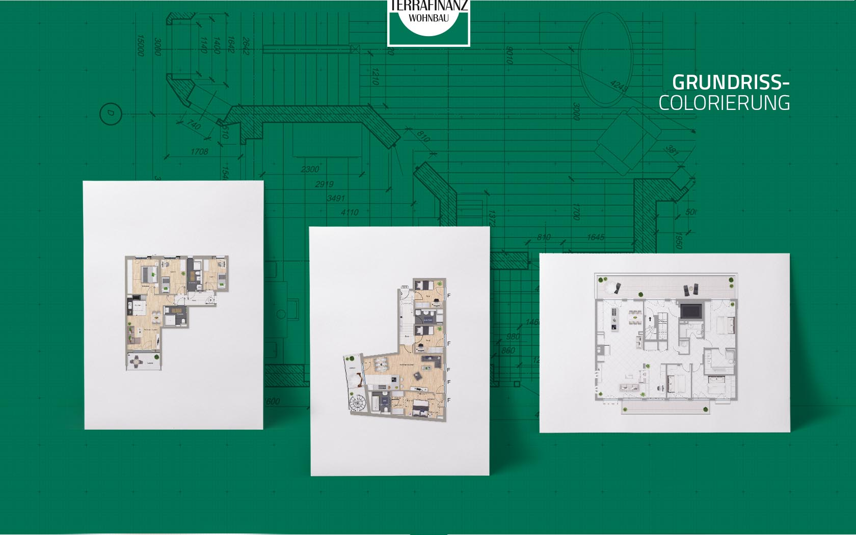 EAZEE Immobilienmarketing Terrafinanz Neubau Grundrisse Koloriert V