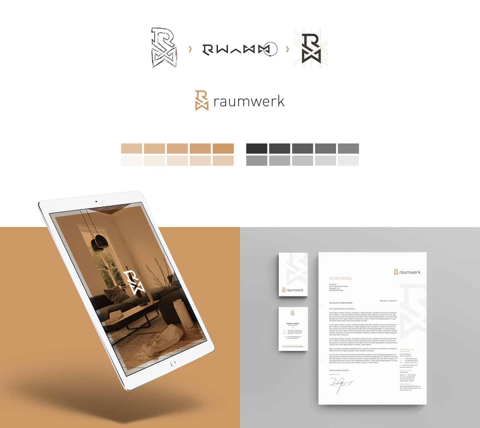 EAZEE Werbeagentur Muenchen Geschaeftsausstattung Logodesign und Tablet Vorschau