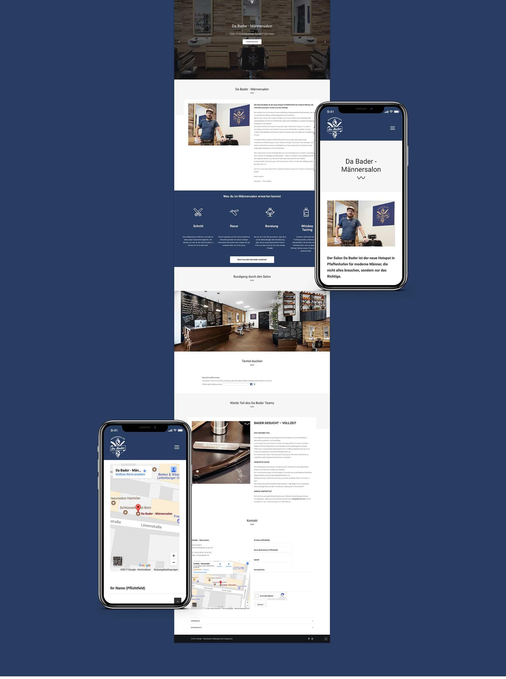 EAZEE Kreativagentur Meunchen Da Bader Webdesign Responsive Vorschau