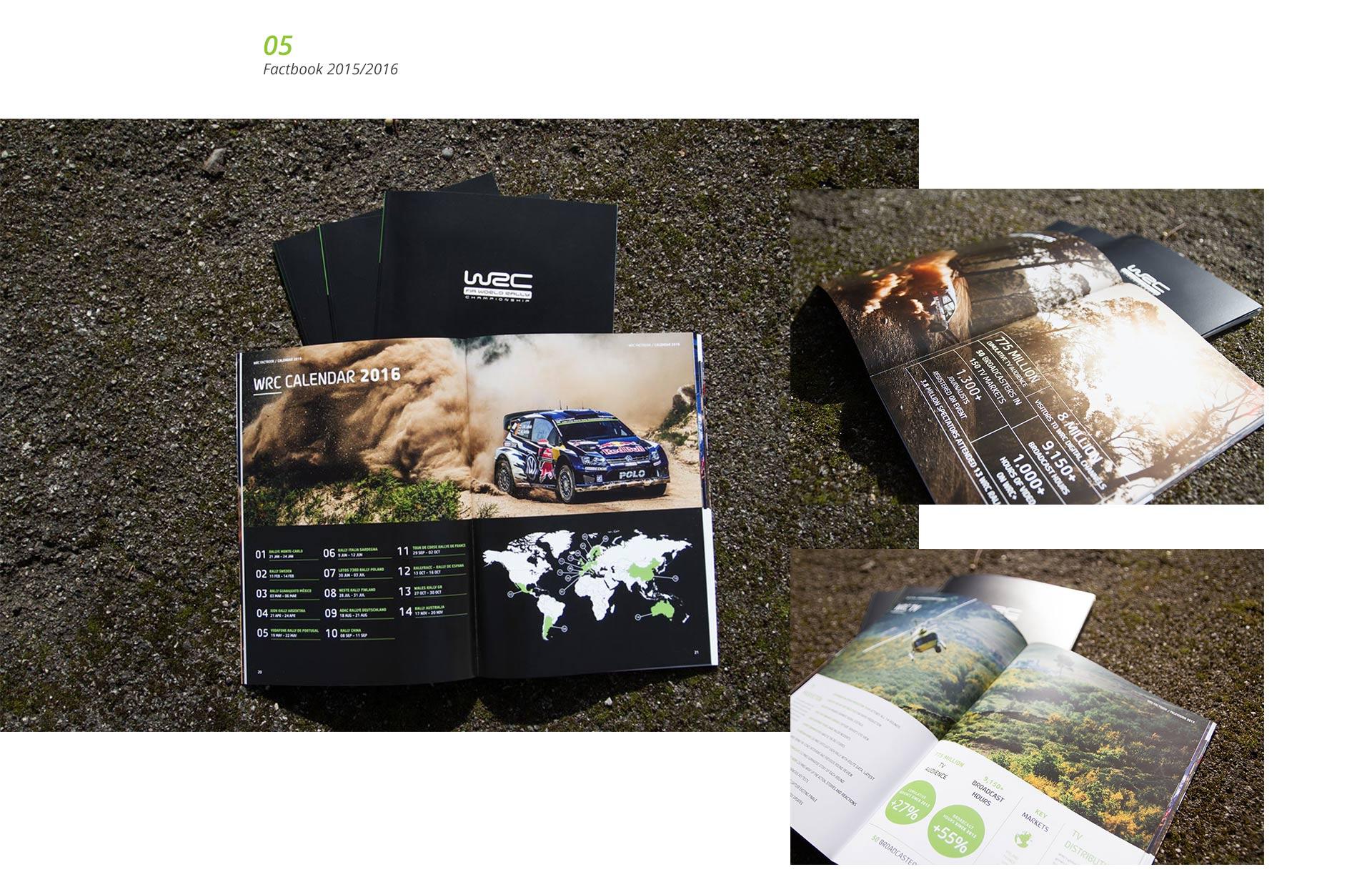 EAZEE Designagentur Factbook Imagebroschuere WRC