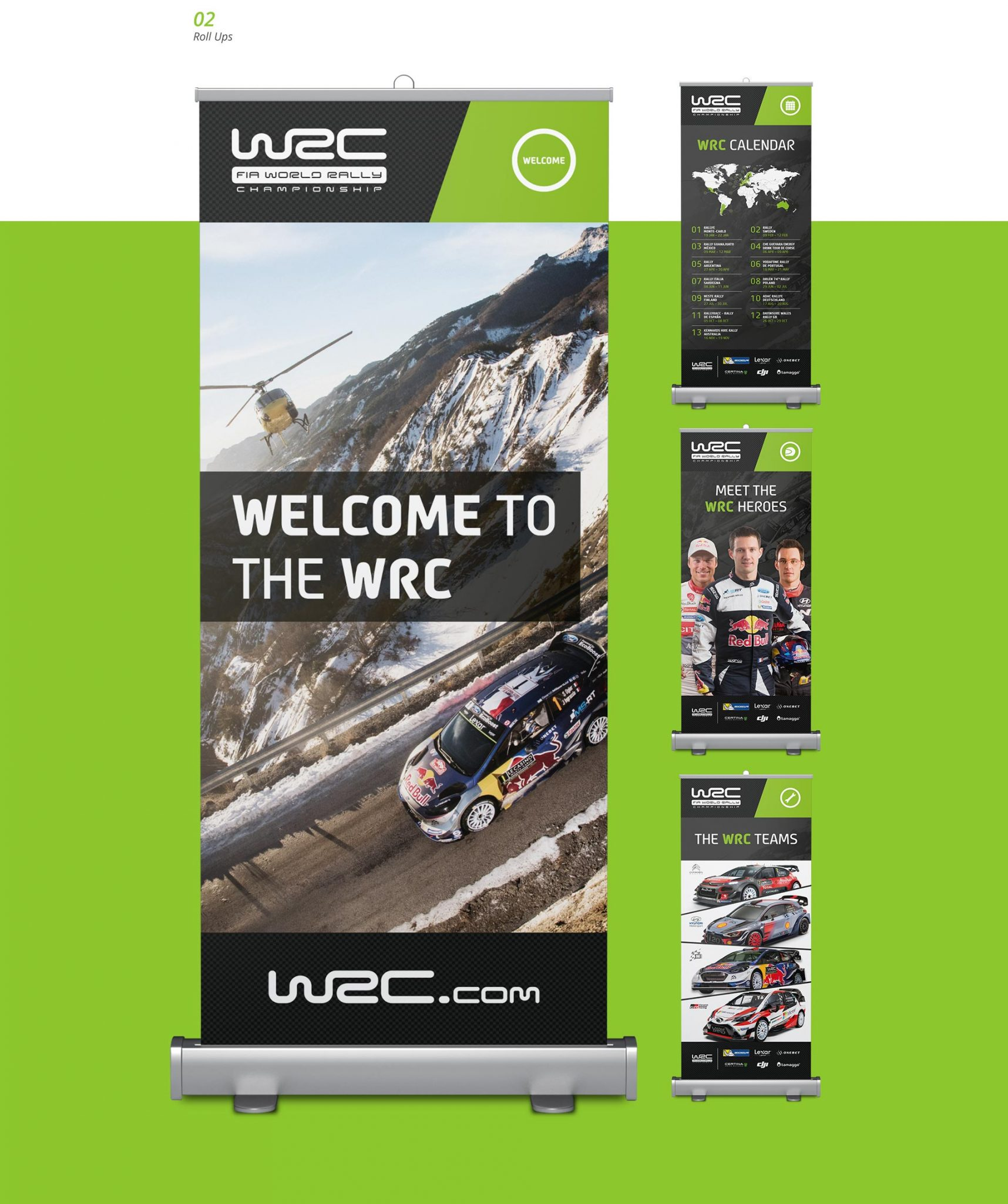 EAZEE Corporate Design WRC Roll Ups
