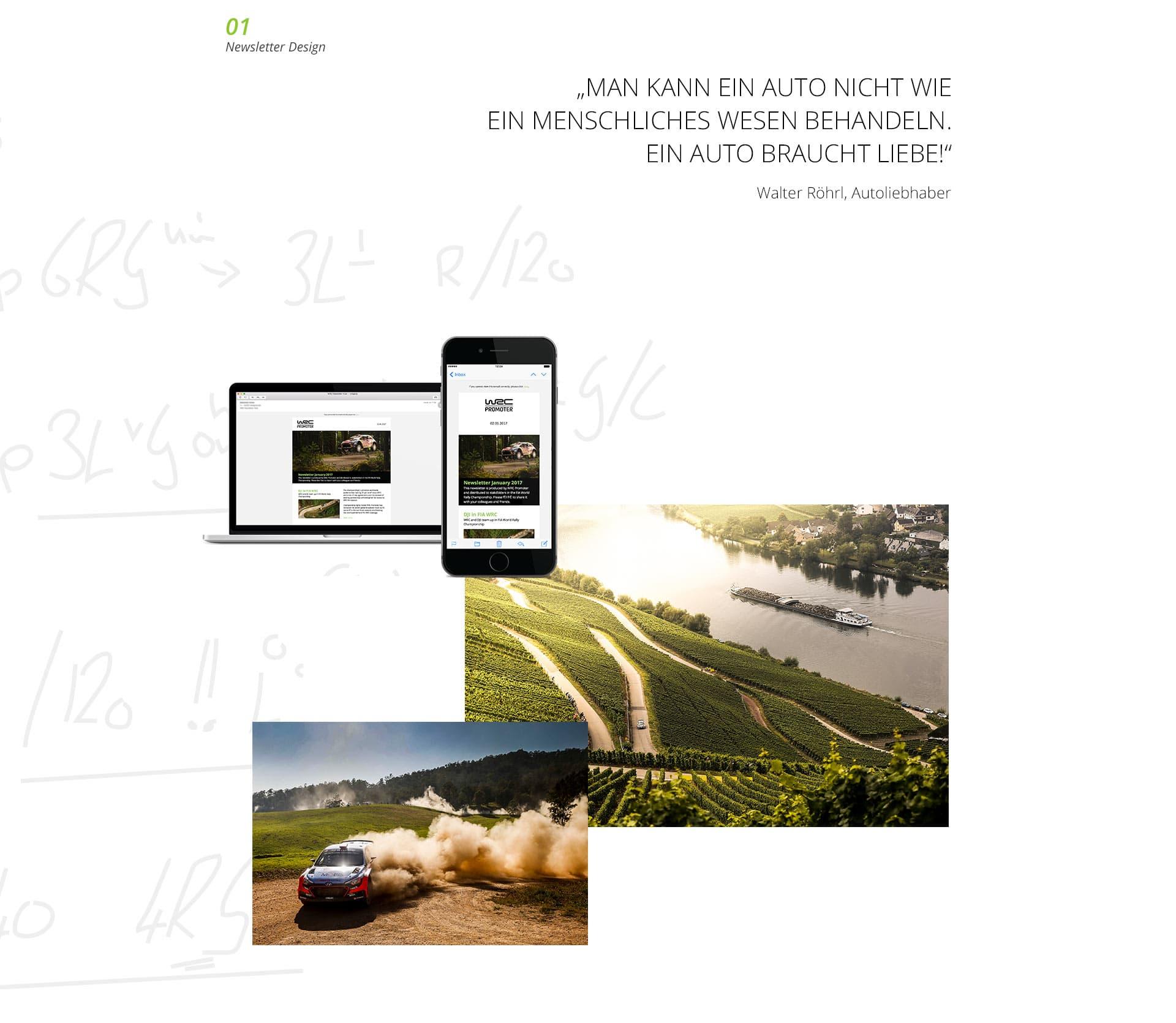 EAZEE Corporate Design WRC Newsletter Design