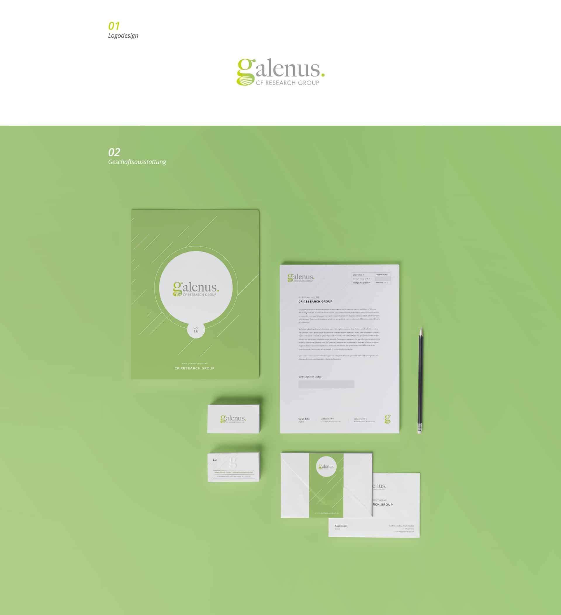 EAZEE Werbeagentur Galenus LMU Corporate Design und Logoentwicklung
