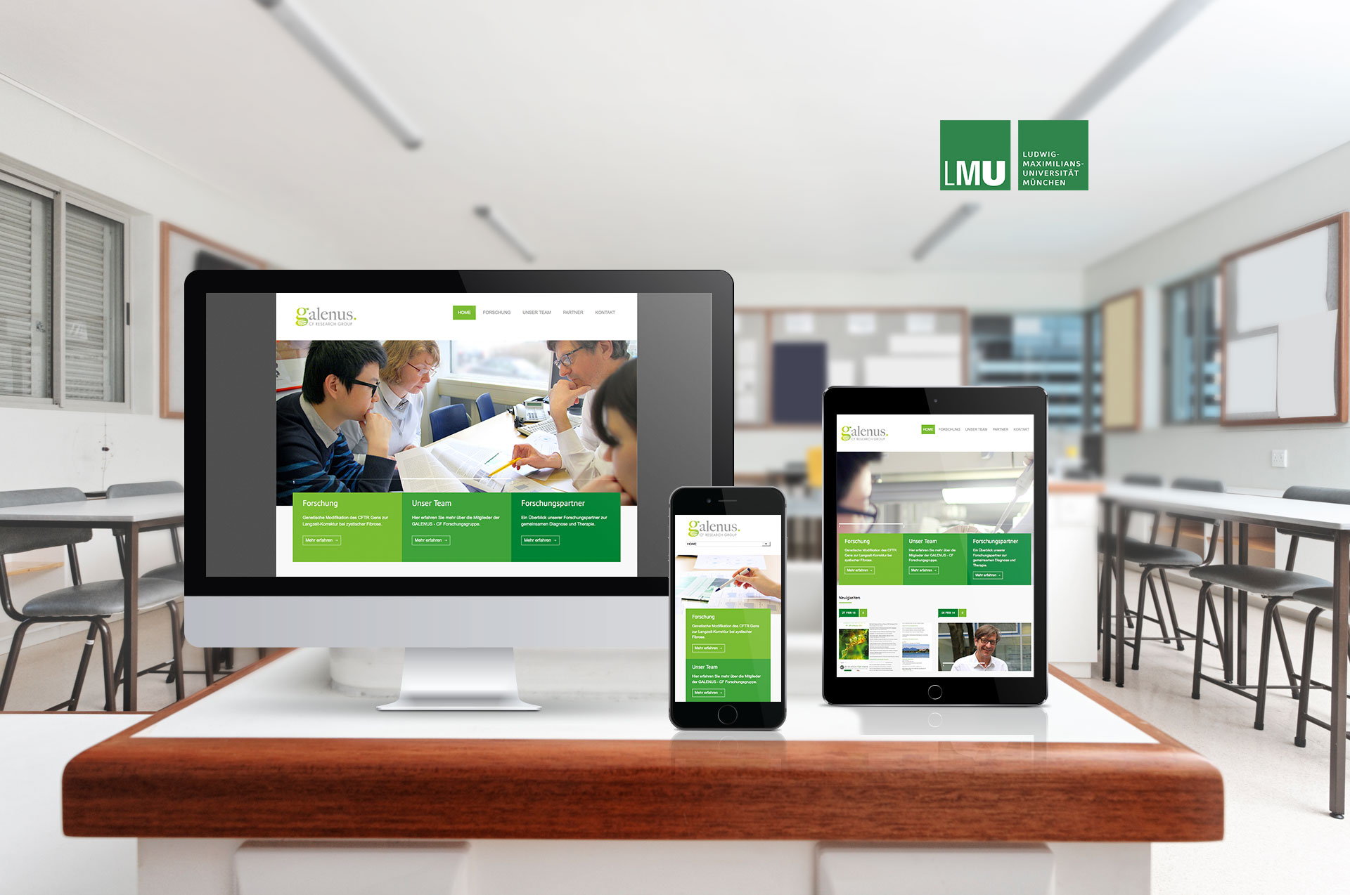 EAZEE Webagentur Galenus LMU Responsive Webdesign Vorschau Devices