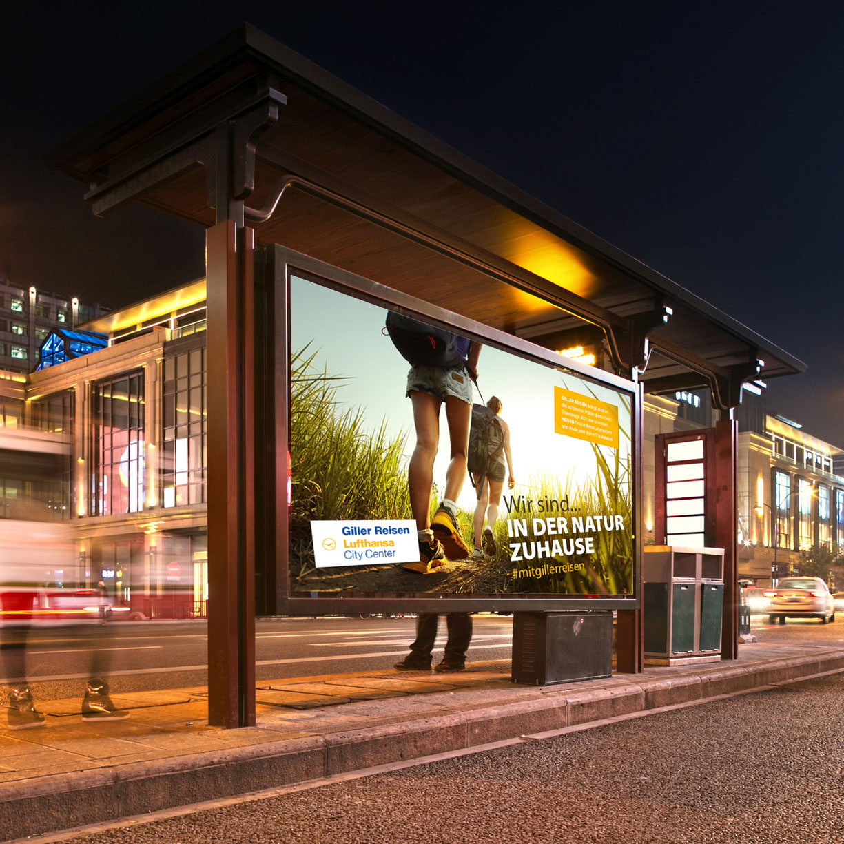 EAZEE Werbeagentur Image Kampagne Konzeption Giller Lufthansa City Center Idee