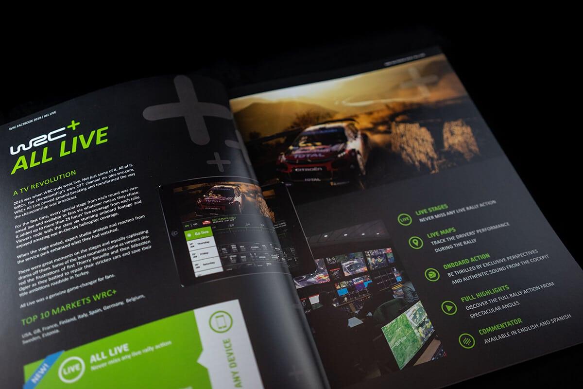 WRC Broschuere Factbook Brand Design