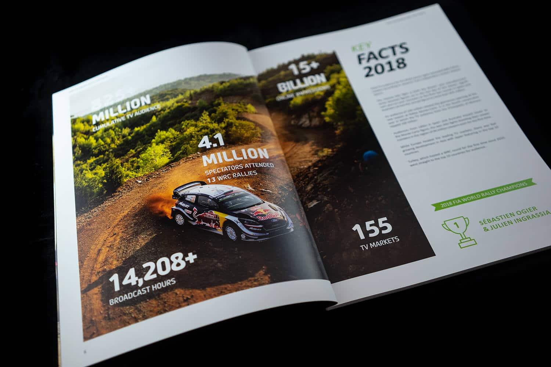 Magazine Design Agency for WRC Rally Desigagentur Imagebroschuere