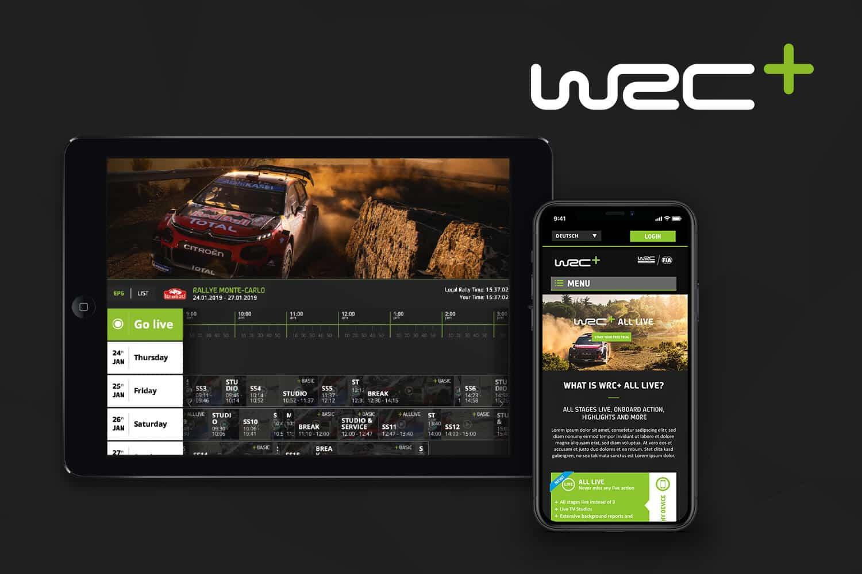 World Rally Championship Webdesign EPG Design Responsive Details