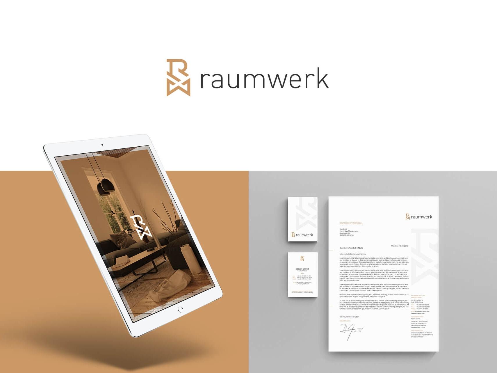 Raumwerk Projektentwicklung Geschaeftsausstattung Logodesign Corporate Design